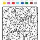 Colour by numbers: un cohete espacial