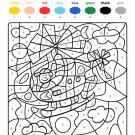 Colour by numbers: un helicóptero en el cielo