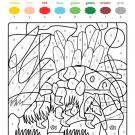 Colour by numbers: un oso hormiguero