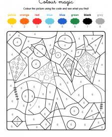 Colour by numbers: cometas volando en el cielo