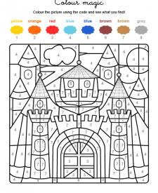 Colour by numbers: un castillo medieval
