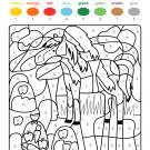 Colour by numbers: un caballo en el campo