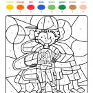 Colour by numbers: un niño y su amigo el perro