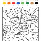 Colour by numbers: un dragón