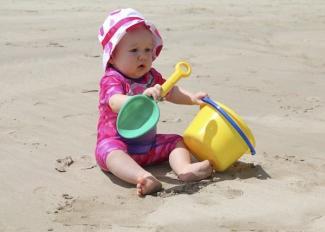 En la escuela de la playa