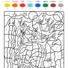 Colour by numbers: fantasma en el bosque