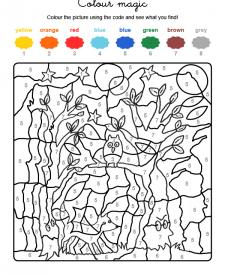 Colour by numbers: fantasma en el bosque
