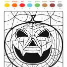 Colour by numbers: una supercalabaza de Halloween