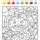 Colour by numbers: calabazas y araña