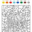 Colour by numbers: la casa de los fantasmas de Halloween
