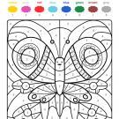 Colour by numbers: una mariposa de colores