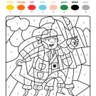 Colour by numbers: un pirata