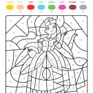 Colour by numbers: una princesa