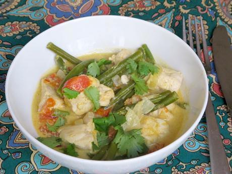 Receta de pollo al curry