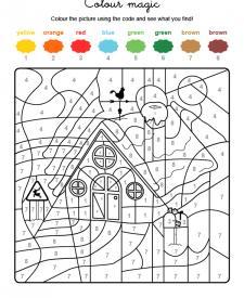 Colour by numbers: la casa de Papá Noel