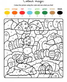 Colour by numbers: la caza de los huevos