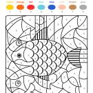 Colour by numbers: un pez de colores