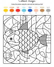 Colour by numbers: un pez de colores