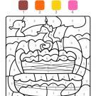 Coloriage magique en français: cumpleaños 3