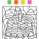 Coloriage magique en français: cumpleaños 4