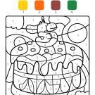 Coloriage magique en français: cumpleaños 5