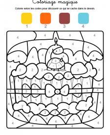 Coloriage magique en français: cumpleaños 6