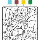 Coloriage magique en français: un perrito