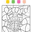 Coloriage magique en français: princesa para el día de la madre
