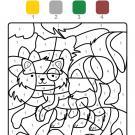 Coloriage magique en français: un gatito