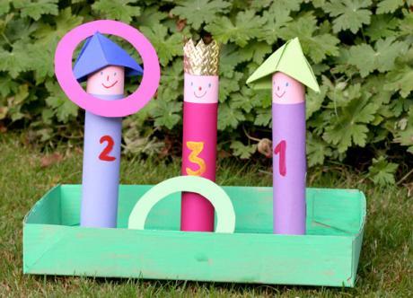 Juego de lanzamiento de anillas: manualidad para niños