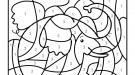 Coloriage magique en français: un elefante