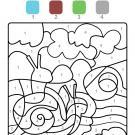 Coloriage magique en français: un caracol