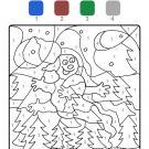 Coloriage magique en français: un fantasma en la noche