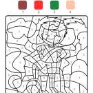 Coloriage magique en français: un jugador de fútbol