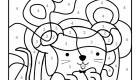 Coloriage magique en français: un ratón