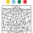 Coloriage magique en français: un huevo de Pascua