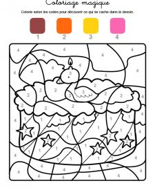 Coloriage magique en français: cumpleaños 2