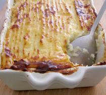 Receta de pastel de carne picada y puré de patatas