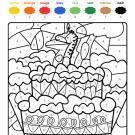 Coloriage magique en français: cumpleaños 7