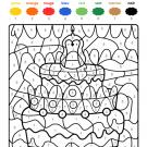 Coloriage magique en français: cumpleaños 8