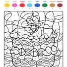 Coloriage magique en français: cumpleaños 9