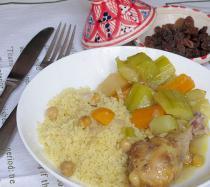 Receta de cuscús casero con pollo y verduras
