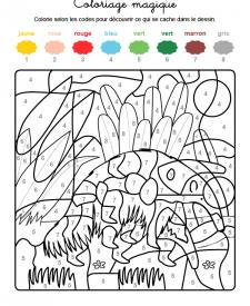 Coloriage magique en français: un oso hormiguero