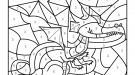 Coloriage magique en français: un dragón