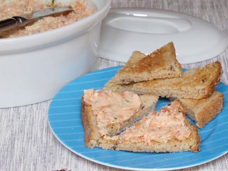 Receta de rilletes de salmón