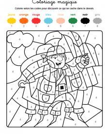 Coloriage magique en français: un pirata