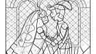 Coloriage magique en français: la boda de los príncipes