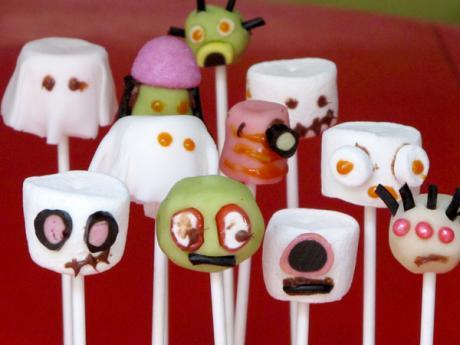 Receta de chupachues fantasmagóricos y monstruosos para Halloween