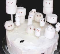Receta de tarta encantada para Halloween
