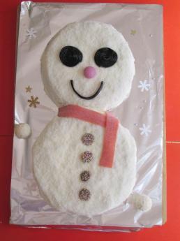 Receta de tarta de muñeco de nieve para Navidad